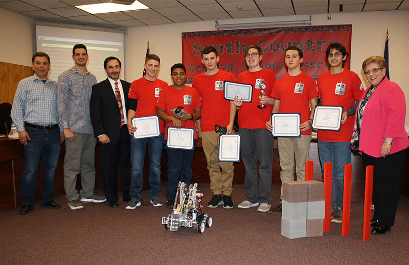 Bellport High School Robotics Team Honored
