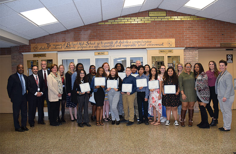 Bellport HS Students Inducted into Center of Excellence