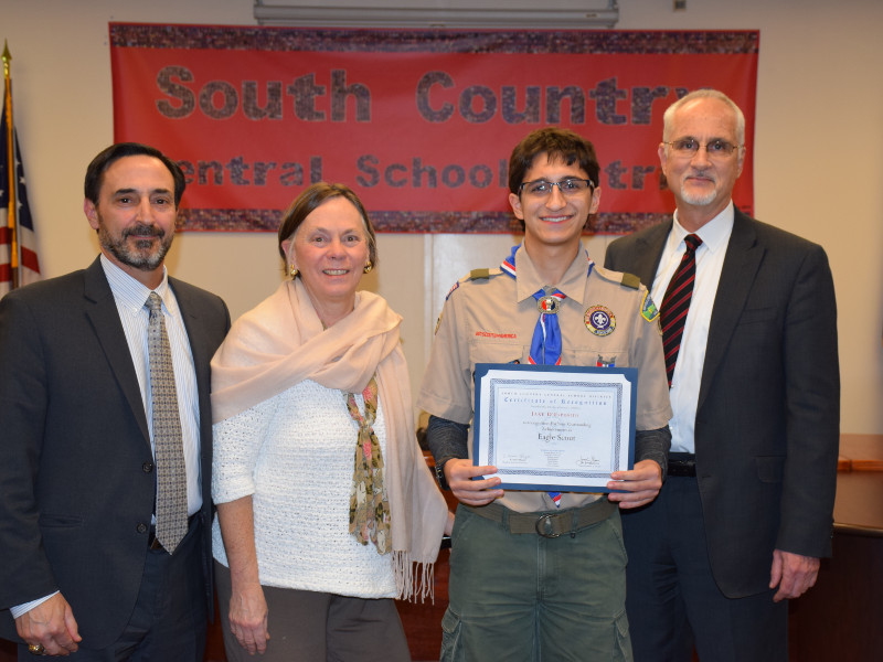 Bellport HS Junior Awarded Rank of Eagle Scout
