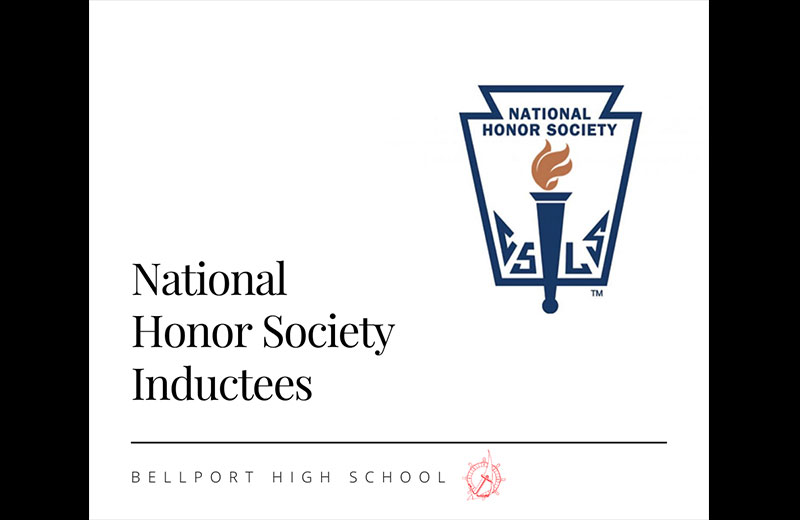 Bellport High School National Honor Society Inducts 73