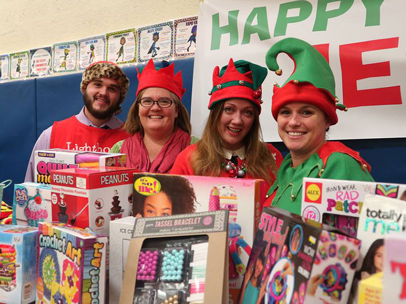Santa's Workshop at Kreamer St Elementary