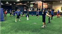 Bellport varsity baseball players prepare themselves at All-Pro Sports Academy for the 2017 season.